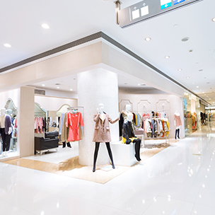 White Retail Flooring