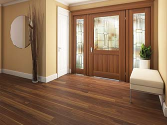 Reception room wood flooring