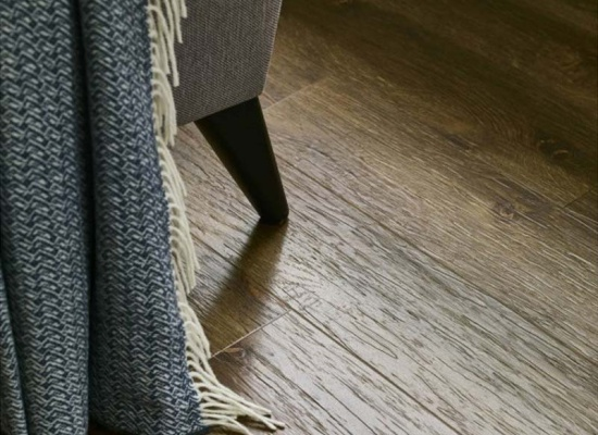 Close up Amtico wooden floor in lounge