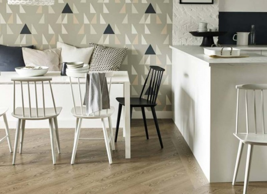 Kitchen wooden Amtico flooring