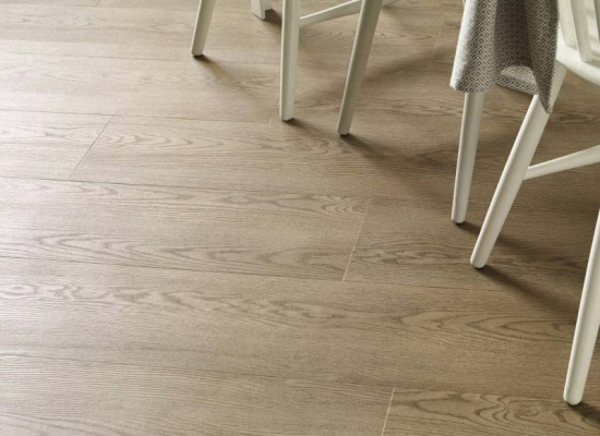 Close up kitchen Amtico wooden flooring