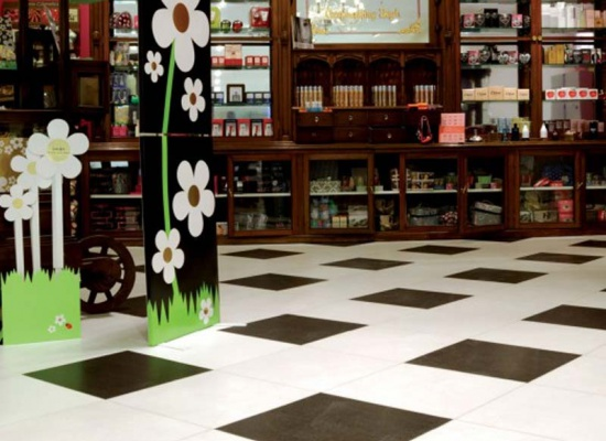 Abstract Flooring - Black and White
