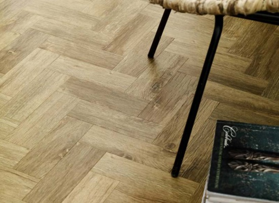 Close up of Amtico wood flooring