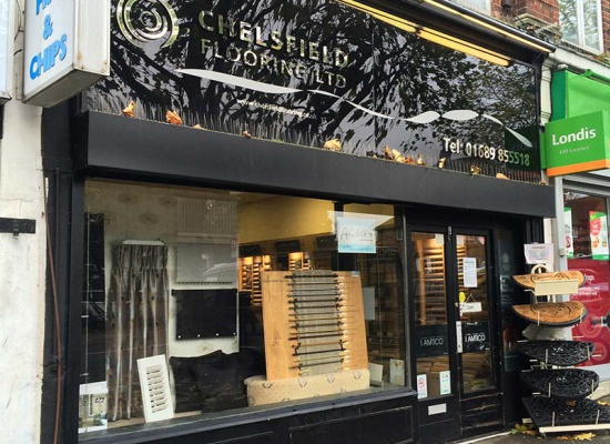 Chelsfield Flooring, Orpington showroom shop front