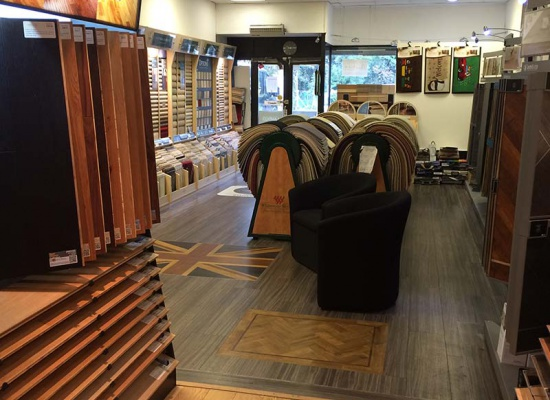 Interior of our Kent flooring showroom