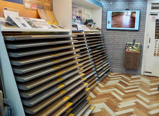 Flooring samples of Quickstep in our showroom